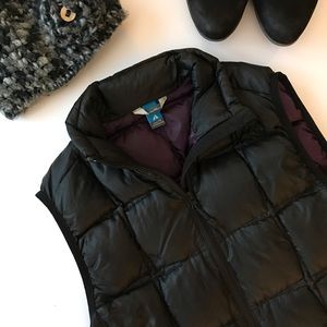 Eddie Bauer TALL Quilted Black Premium Down Vest
